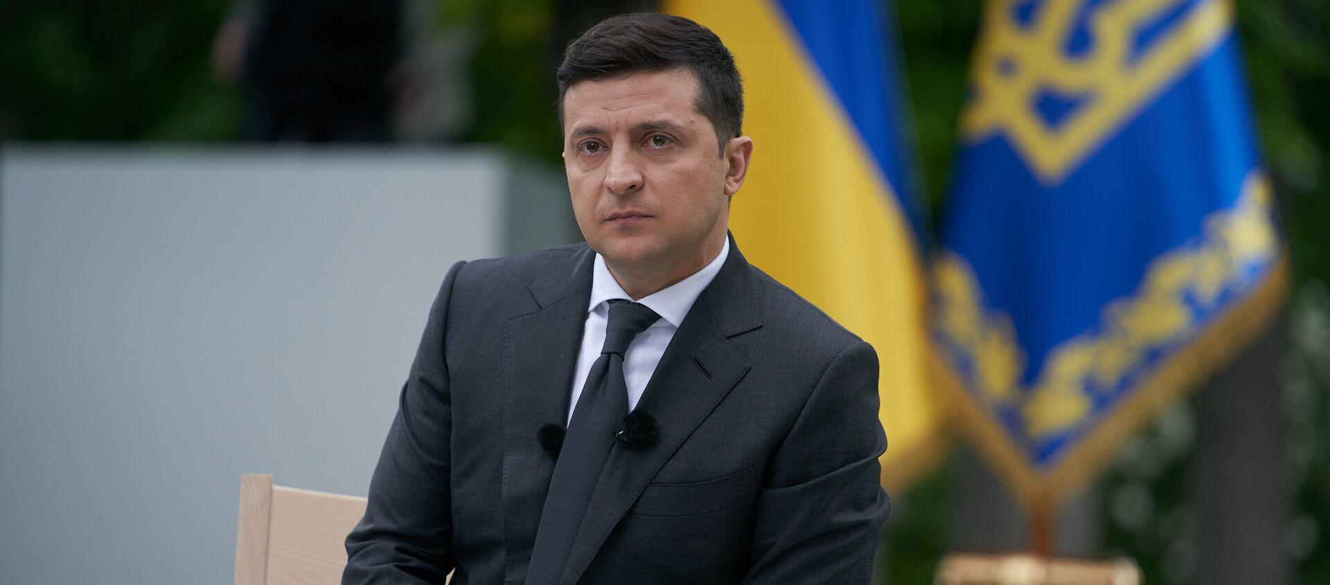 Prezydent Ukrainy Wołodymyr Zełeński. - Sputnik Polska, 1920, 10.06.2021