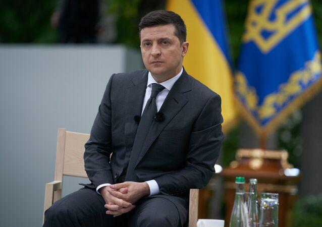 Prezydent Ukrainy Wołodymyr Zełeński.
