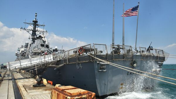 Niszczyciel marynarki wojennej USA Carney w porcie Odessy - Sputnik Polska