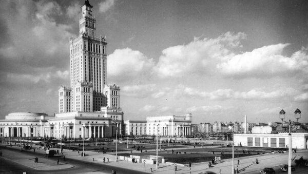 Pałac Kultury i Nauki w Warszawie, 1957 r. - Sputnik Polska