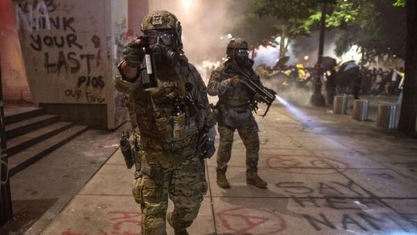 Zamieszki na ulicach Portland - Sputnik Polska