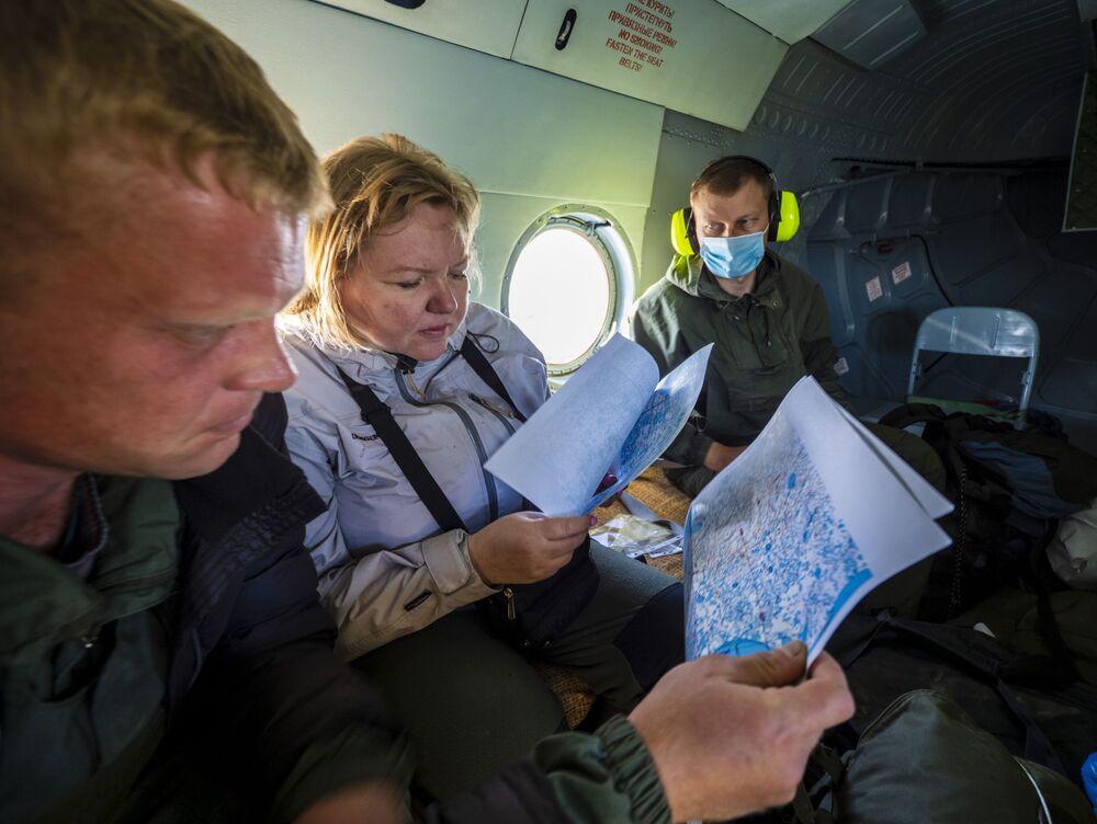 Archeolodzy w samolocie