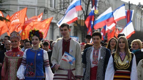 Obchody rocznicy przyłączenia Krymu do Rosji - Sputnik Polska