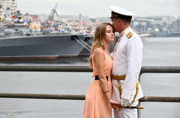 Parada z okazji Dnia Marynarki Wojennej Rosji we Władywostoku - Sputnik Polska
