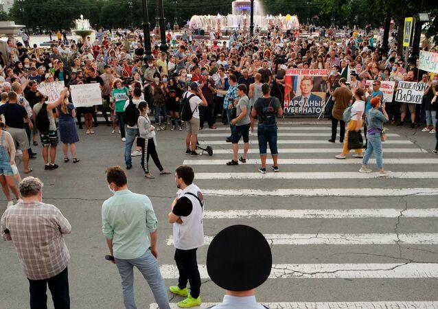 Protesty w Chabarowsku