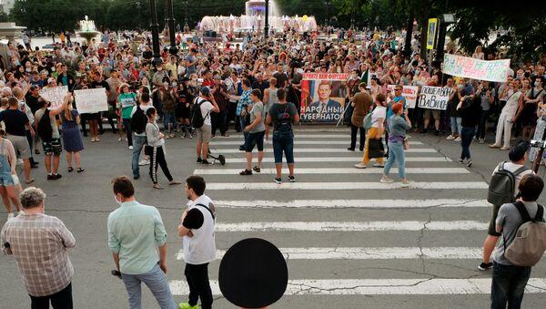 Protesty w Chabarowsku - Sputnik Polska