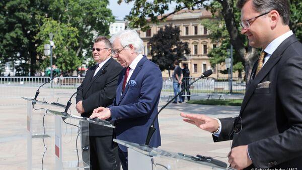 Spotkanie ministrów spraw zagranicznych Polski, Litwy i Ukrainy - Sputnik Polska