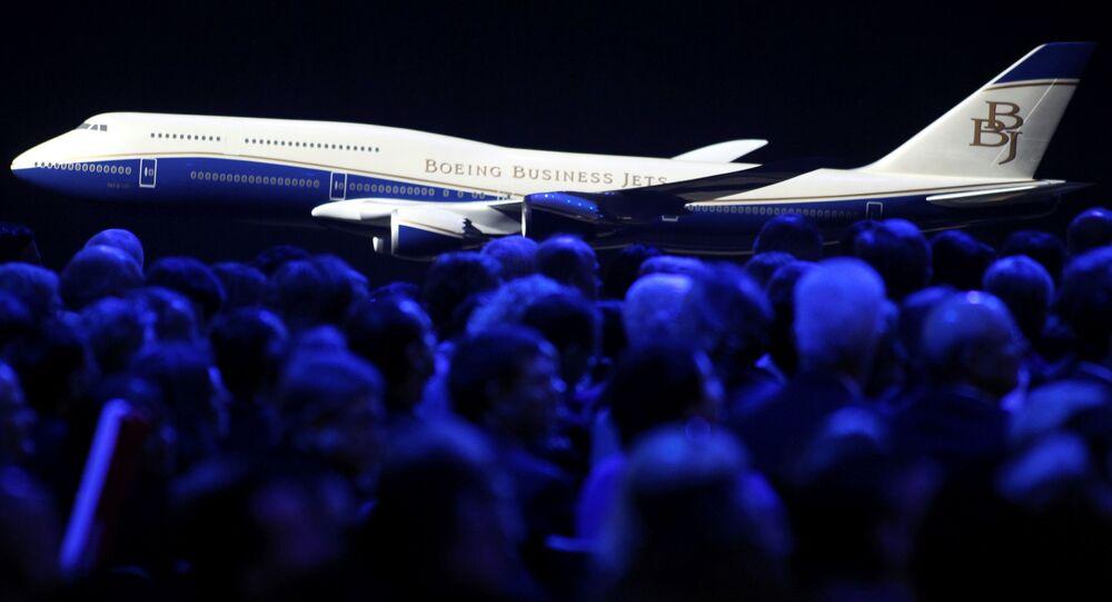 Model samolotu pasażerskiego Boeing 747-8 jumbo, 2011 rok