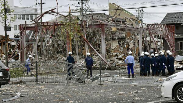 Skutki eksplozji w restauracji w mieście Koriyama w Japonii - Sputnik Polska