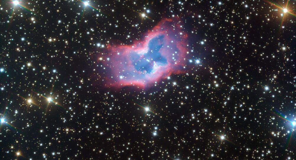 Zdjęcie mgławicy NGC 2899 przypominającej kosmicznego motyla
