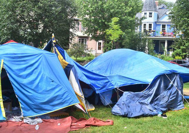 Obóz dla bezdomnych w Minneapolis