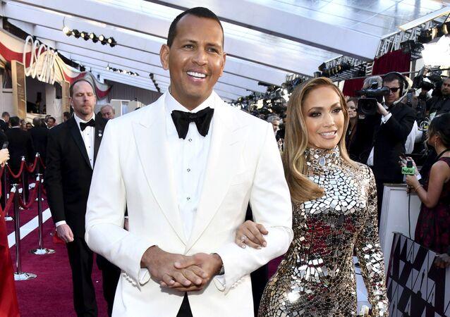 Jennifer Lopez z byłym narzeczonym Alexem Rodriguezem