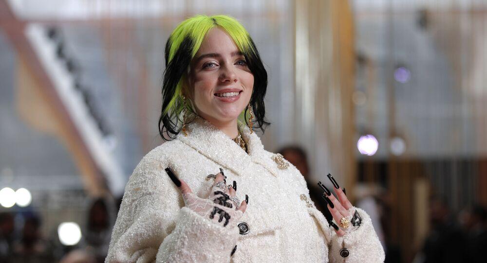 Piosenkarka Billie Eilish na rozdaniu Oscarów