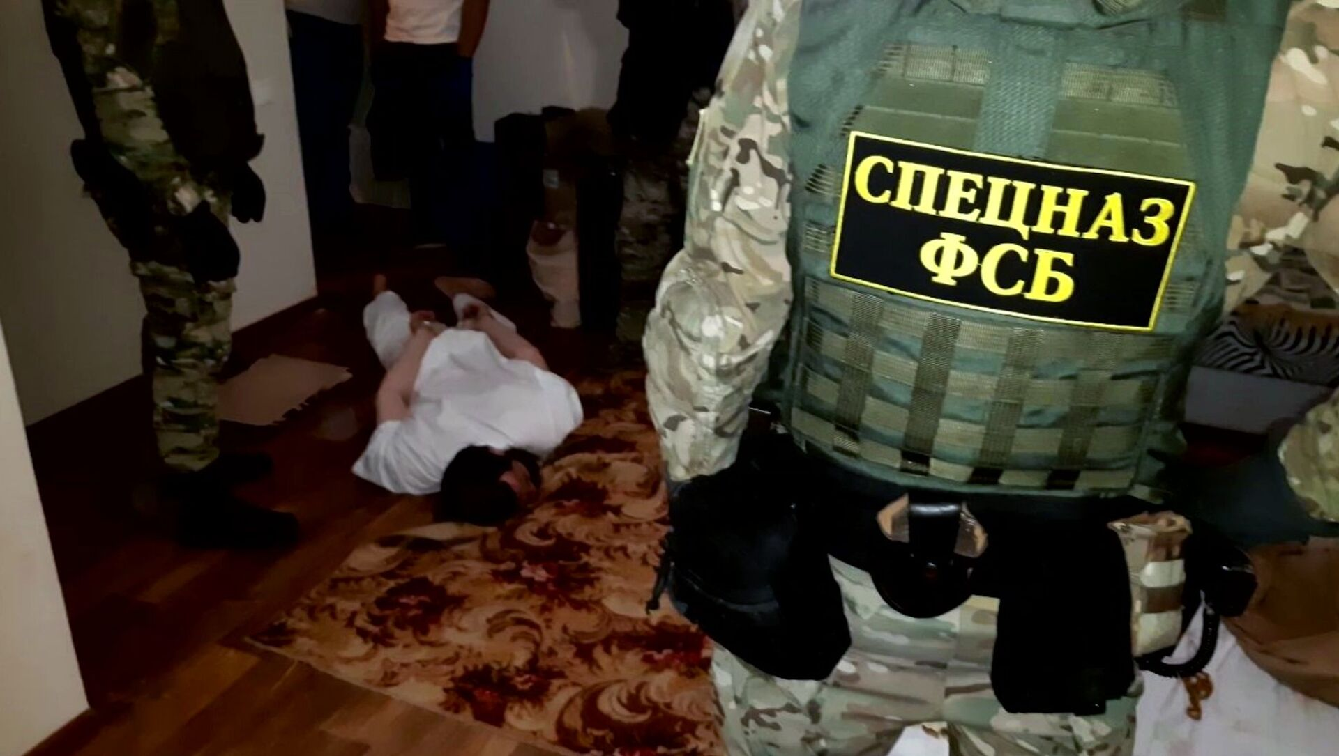 Zatrzymanie przez pracowników FSB Federacji Rosyjskiej w trakcie działań operacyjnych osób zaangażowanych w działalność zakazanej w Federacji Rosyjskiej międzynarodowej organizacji ekstremistycznej Tablighi Jamaat w obwodzie wołgogradzkim - Sputnik Polska, 1920, 15.04.2021