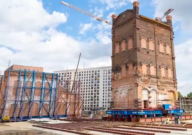 Wieża ciśnień z XIX wieku w Moskwie