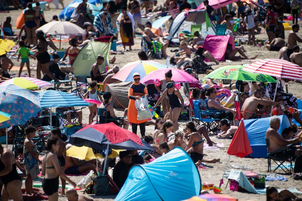 Plaża na południu Francji