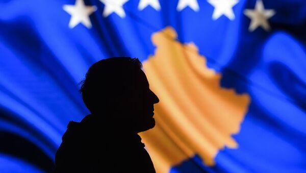 Flaga Kosowa. - Sputnik Polska