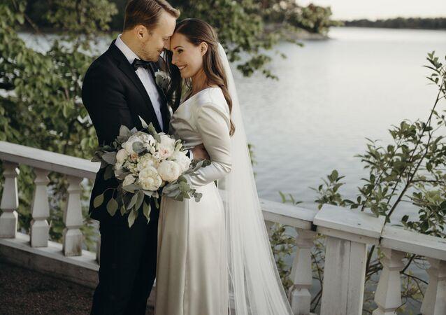 Sanna Marin i  Markus Räikkönen