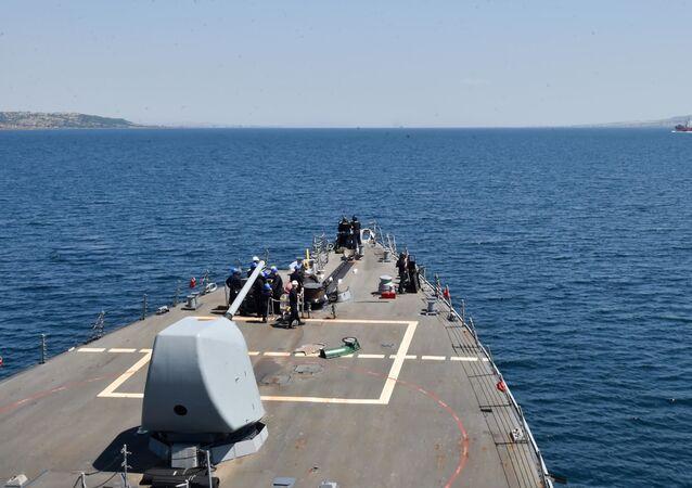 Amerykański niszczyciel rakietowy USS Porter rozpoczął przejście z Morza Czarnego na Morze Śródziemne