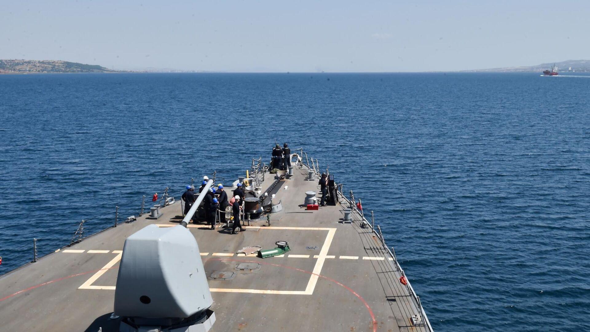 Amerykański niszczyciel rakietowy USS Porter rozpoczął przejście z Morza Czarnego na Morze Śródziemne - Sputnik Polska, 1920, 04.07.2021