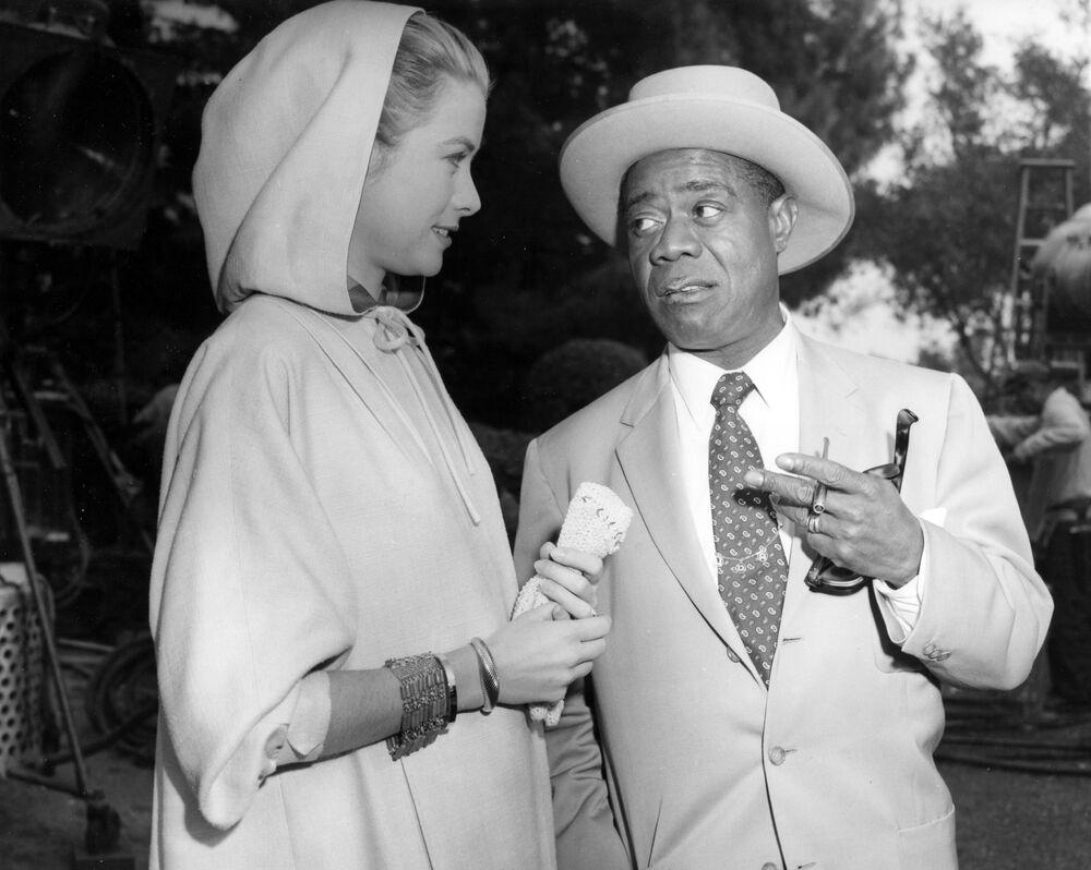 Amerykańska aktorka Grace Kelly i Louis Armstrong