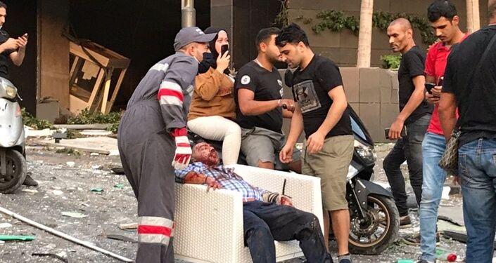 Ranni po wybuchu w Bejrucie