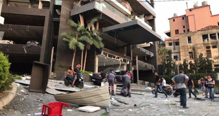 Ulice Bejrutu po wybuchu