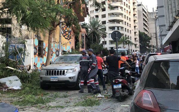 Ulice Bejrutu po wybuchu - Sputnik Polska