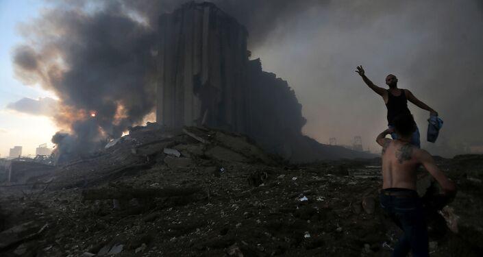 Skutki wybuchu w Bejrucie