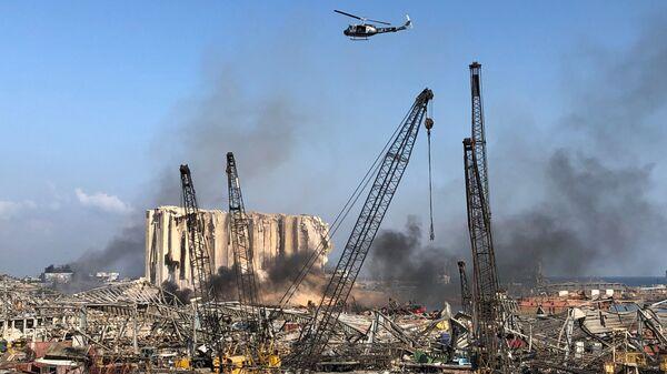 Miejsce wtorkowej eksplozji na terenie portu w Bejrucie, Liban 5 sierpnia 2020 r. - Sputnik Polska