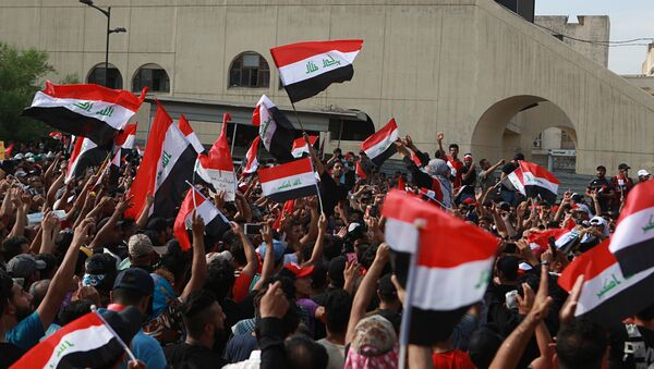 Protesty w Iraku. - Sputnik Polska