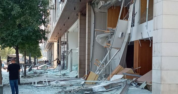 Sytuacja na miejscu wybuchu w Bejrucie w Libanie