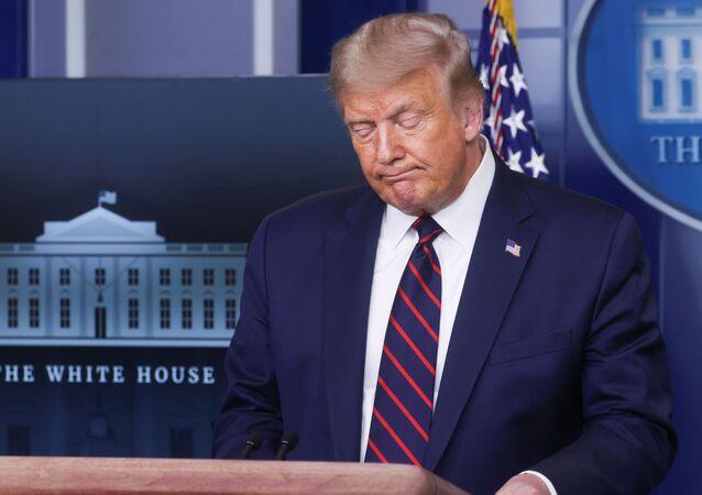 Prezydent USA Donald Trump w Białym Domu