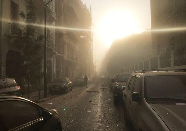 Skutki eksplozji w Bejrucie, Liban
