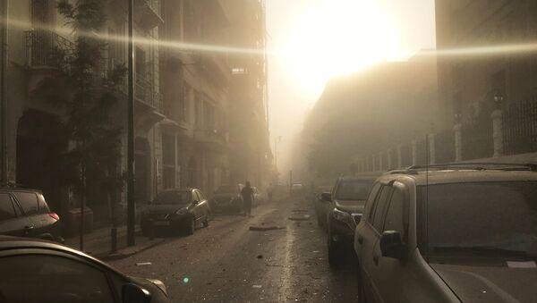 Skutki eksplozji w Bejrucie, Liban - Sputnik Polska