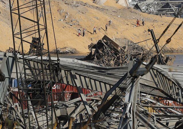 Poszukiwania ocalałych w Bejrucie
