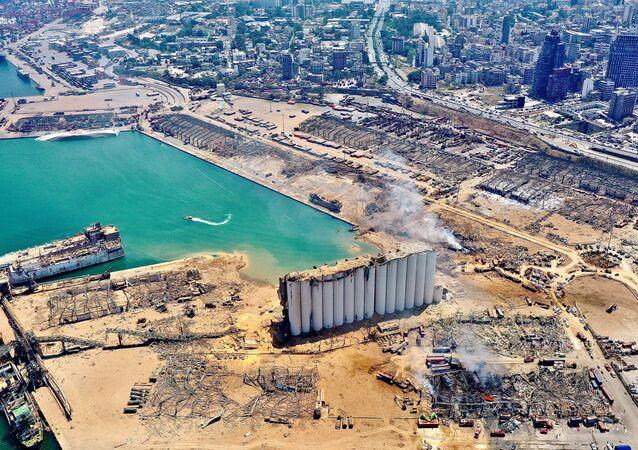 Port w Bejrucie z lotu ptaka