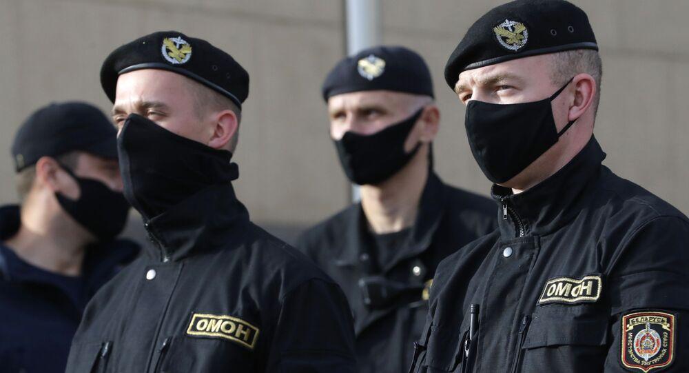 Policja w Mińsku