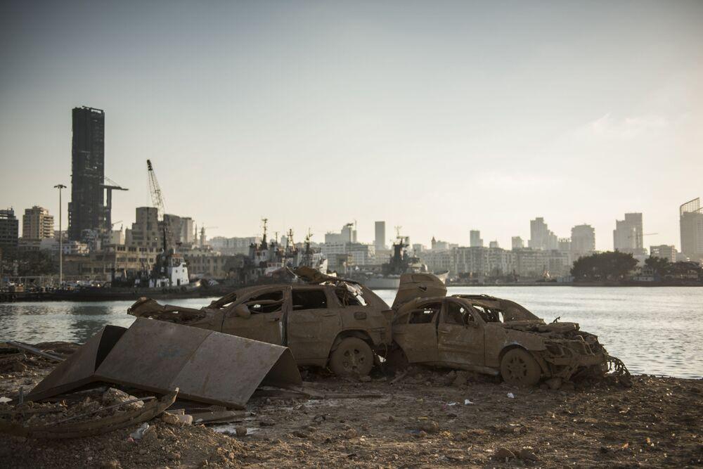 Port w Bejrucie po potężnej eksplozji