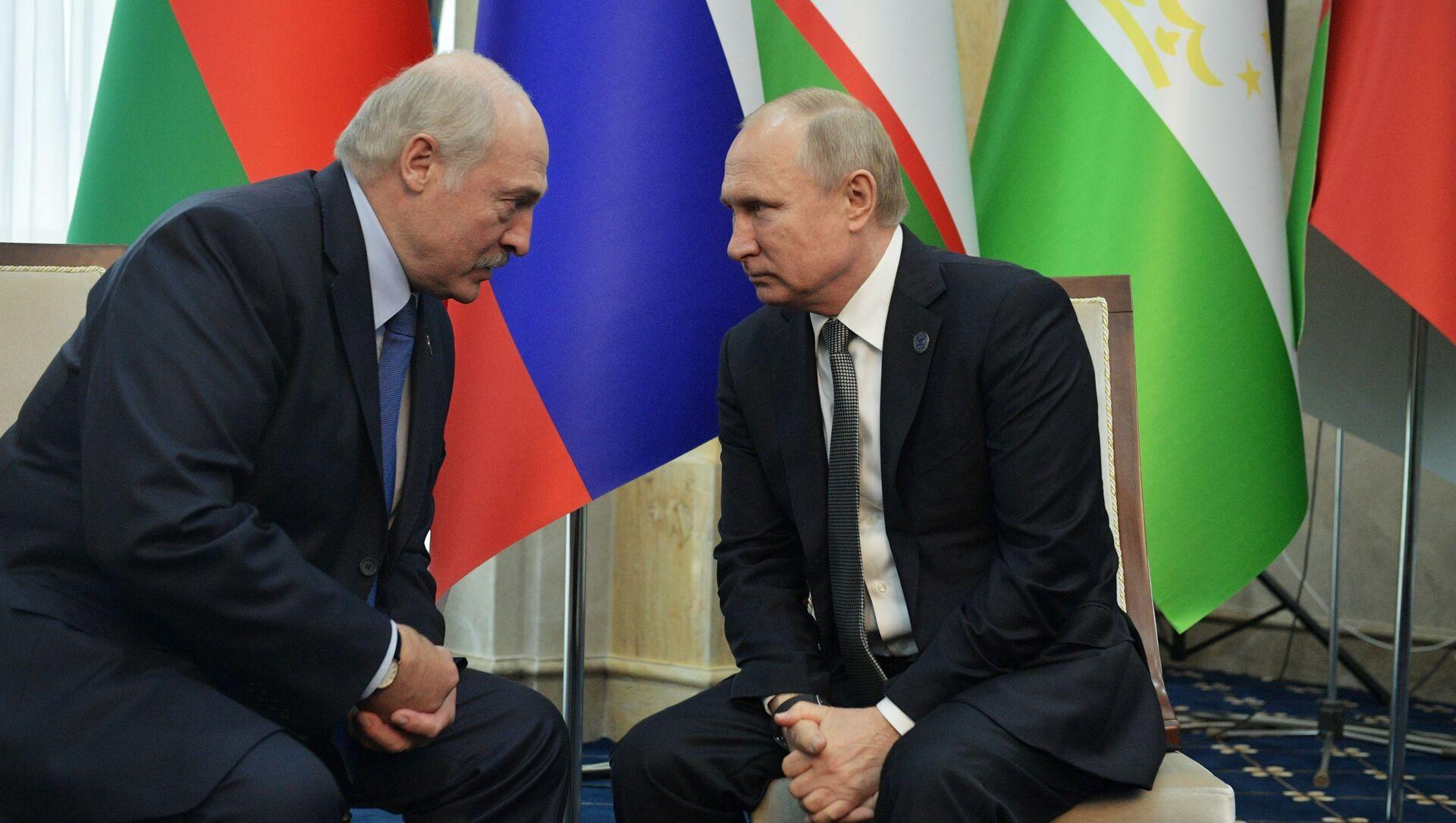 Prezydenci Rosji i Białorusi, Władimir Putin i Aleksandr Łukaszenka. - Sputnik Polska, 1920, 22.04.2021