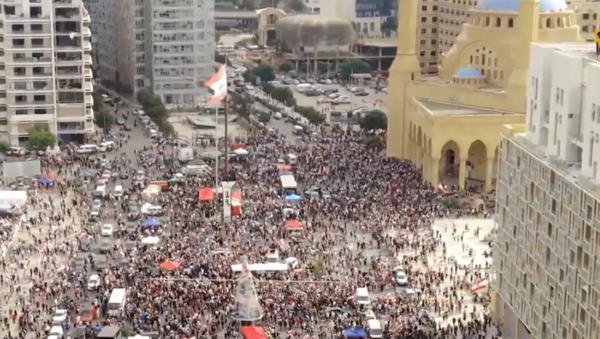 Protesty w Bejrucie  - Sputnik Polska