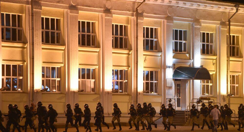 Protesty w Białorusi.