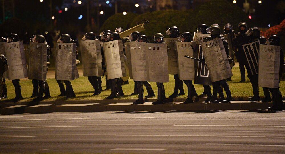 Akcja protestacyjna po wyborach prezydenckich na Białorusi