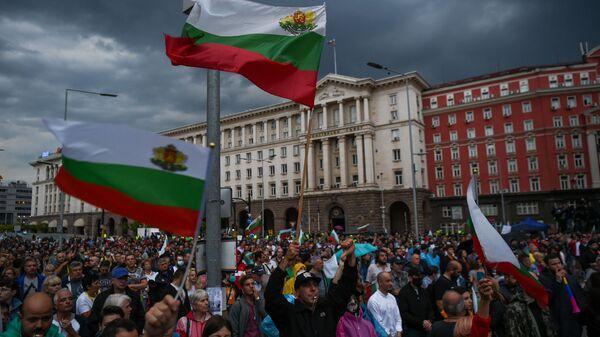 Antyrządowe protesty w Sofii. Bułgaria - Sputnik Polska