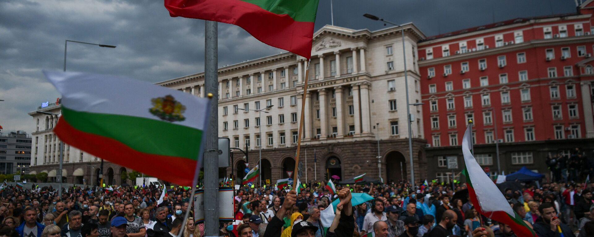 Antyrządowe protesty w Sofii. Bułgaria - Sputnik Polska, 1920, 12.07.2021