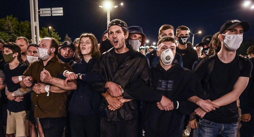 Akcje protestu w Mińsku
