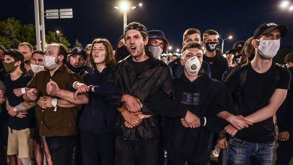 Akcja protestatyjna w Mińsku - Sputnik Polska