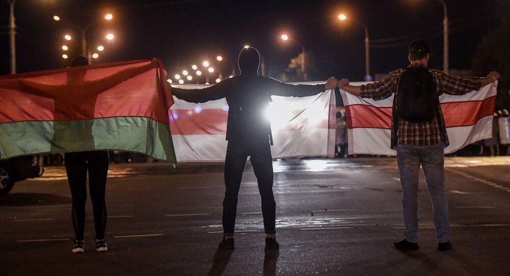 Akcje protestacyjne na ulicach Mińska