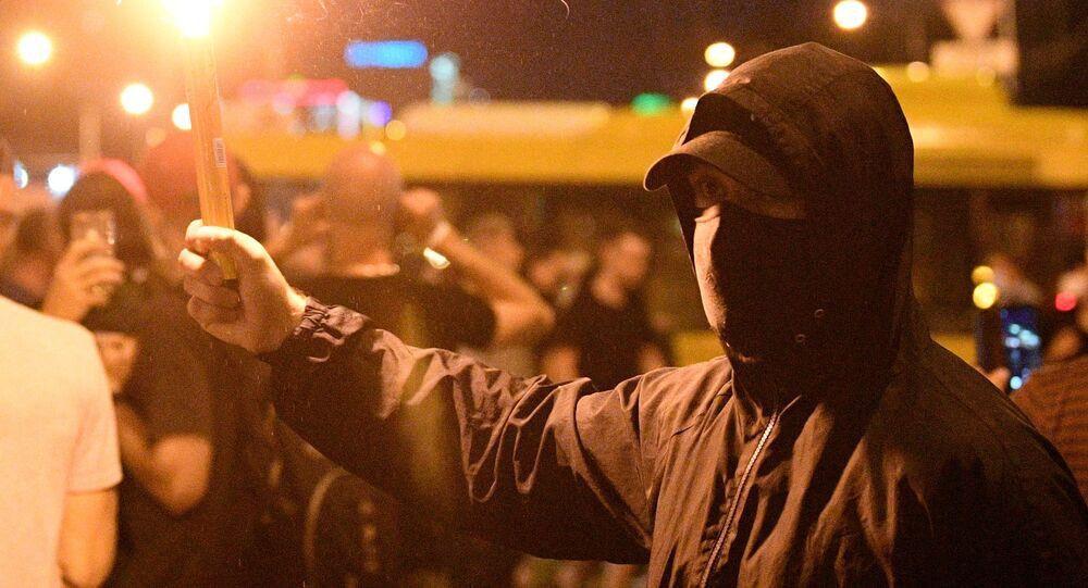 Protesty w Mińsku wieczorem 10 sierpnia