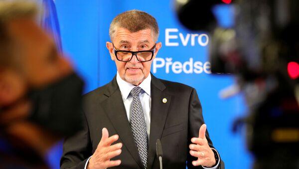 Premier Czech Andrej Babis w czasie szczytu Rady UE w Brukseli - Sputnik Polska